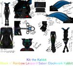 Kit the Kabbit's Reference Sheet by MizzyKit