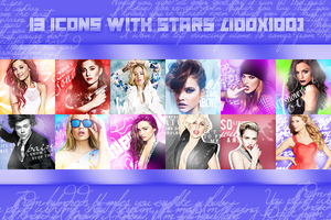 Icons with Ariana Grande, Lady Gaga, Taylor, Miley by LightsOfLove