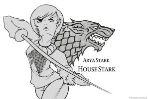 Arya Stark by Fox-n-Box