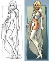 Emma Frost - Rodolphe Guenoden by ChrisShields