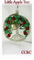 Little Apple Tree Of Life Pendant by LadyAriessTemptra