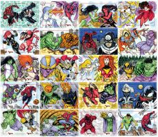 Marvel Creates Battles oficial sketch cards 41-80 by mdavidct