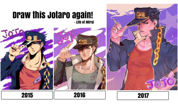 2ND DRAW THIS AGAIN - Jotaro Kujo by DoritoMeatbag