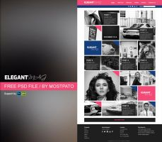 Psd Elegant Mag - Web Theme File by mostpato