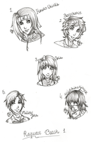 Requests Sketches Batch 1 by Jolly-Jessie