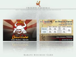 Karate Business Card by fredpsycho83