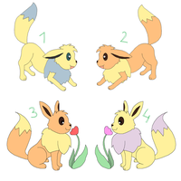 Eevee Adoptables (Closed) by kovuification