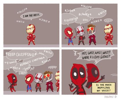 Marvel's Endless quipping by Hallpen