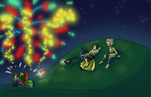 Night Show Lights by Doodlee-a