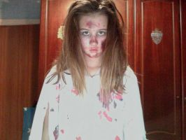 me in my halloween makeup !! its rly bad tho xxxx by olivia9987