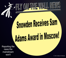 Snowden Receives Sam Adams Award in Moscow! by IAmTheUnison