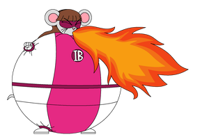 Elemental Breathing Mouse Girl uses fire breath by Magic-Kristina-KW