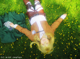 Flower Chains [Christa cosplay] by xPoisonedBlueRosex