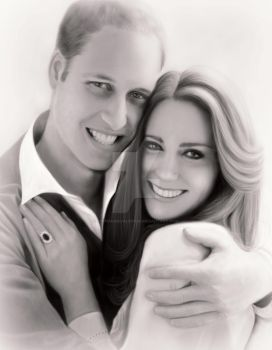 Kate Middleton and Prince William by StephanieVALENTIN