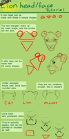 Lion Head and Face Tutorial by Puffleduck