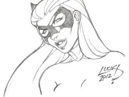 Catwoman SKETCH 2012 by LucasAckerman