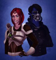 SWtoR - Commission - Hiri and Cykryst by JoJollyArt