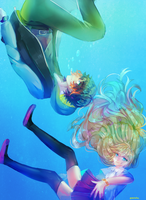 Under water kids by ShintaRee