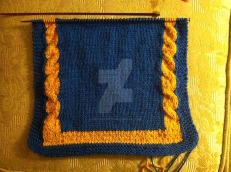 Knit tabard wip by FoxLightstep