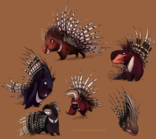 Porcupines by Kimbia28