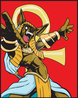 Anubis Rising in Vector by Jezzy-Fezzy