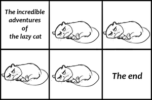 The incredible adventures  of  the lazy cat by Speck--Of--Dust