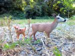Doe and Fawn by Dawnfire6