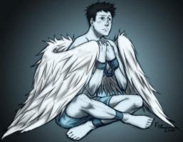 Castiel in chains by DeanGrayson