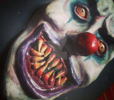 Evil Clown Sculpture by CamilaCostaArt