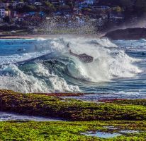 Surfer in the wave by catchaca1