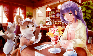 cat cafe by so-jiro