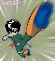 Hard-kicking Rock Lee by J8d