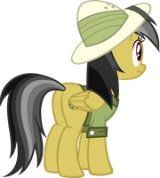 Daring Do Looking Back by Alexstrazse