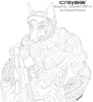 Crysis NanoFox - LineART-WIP v1 by Unreal-Forever