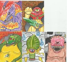 Metroid Cards by kylemulsow