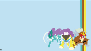Legendary Beasts (Pokemon) Minimalist Wallpaper by slezzy7