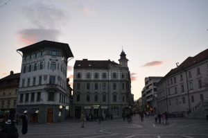 Town Sqare at Dawn by Very-Free-Stock