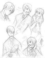 OP Disney: Sanji sketches by persephohi