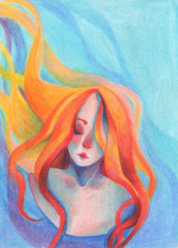 Fire ACEO by enj0yable