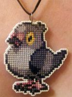 Pidove stitched necklace for ToonTwins by starrley