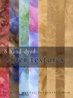 Free 8 hand-dyed paper textures by wolf-minori