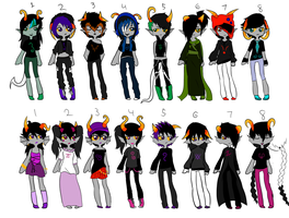 fantroll adopt sheet 20 points 4 out of 16 open by RainbowCoffeeQueen