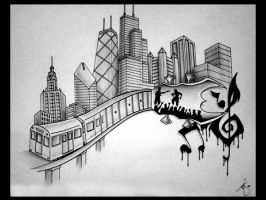 CHI town tattoo by CopperHail