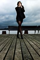 Izabela on the pier by pallasch