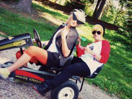 Strider's on Pedal Cart by lucykuro444