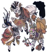 Zebraliland Fakirs - Alchemists of the Serengeti by Lionel23