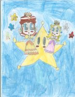 DaisyandPeach on a Grand Star:RQ from PeachGoodnes by PrincessDaisyRocks10