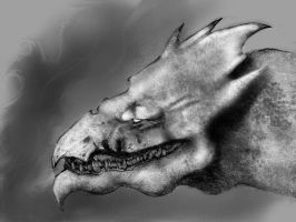 Dragon Concept WIP 5 by Lonewolf898
