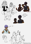 OC Sketchdump by Amadere