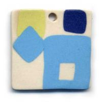 Porcelain Modern Art Pendant by ChinookDesigns